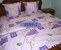 Комплект постельного БЯЗЬ Турция, Веточка сакуры 0559 Семейный