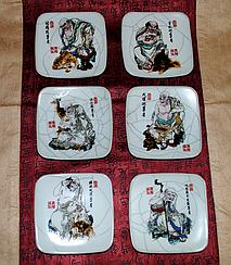 Подарочный набор подставочек под чайные пиалы.