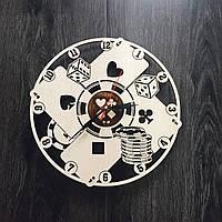 Настенные часы с деревянным циферблатом 7Arts Покер CL-0035, фото 1