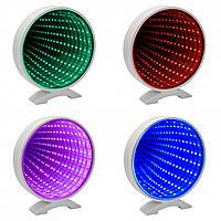 Светильник Бесконечное зеркало USB Infinity Mirror Круг 4 цвета