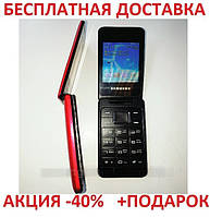 Кнопочный мобильный телефон Samsung T390 Original size 2 sim карты, 800 Mah, FM радио, MP3 сотовый CDMA