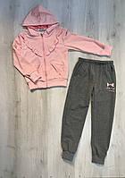 Детский спортивный костюм Жемчуг для девочки 128 7-8 лет розовый