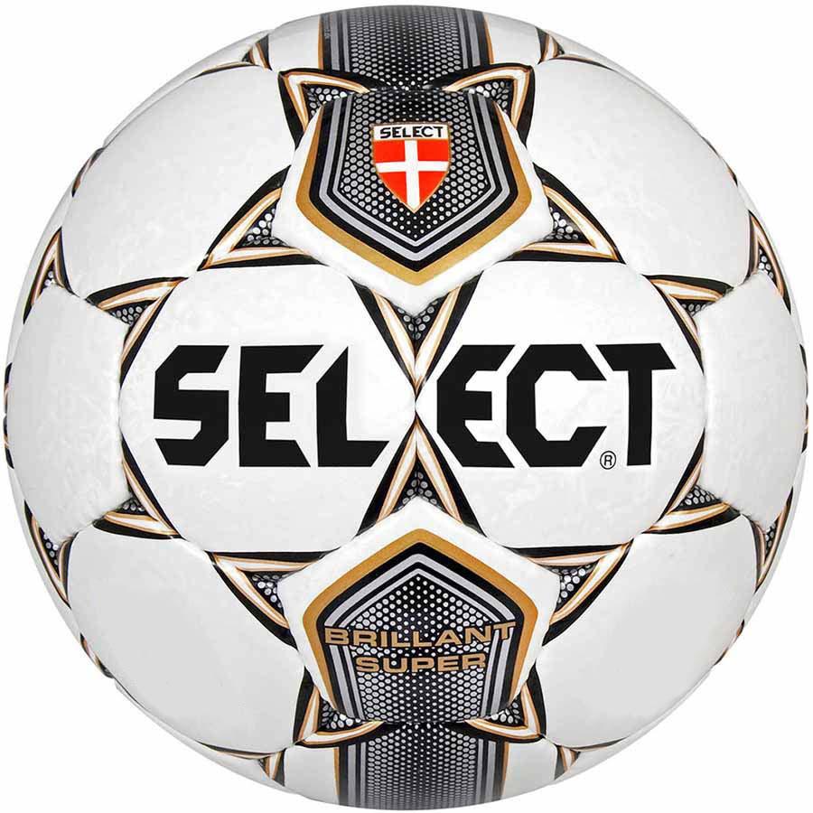 Мяч футбольный Select Brillant Super (001) бел/сер/корич/черн 5 размер