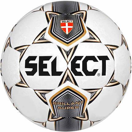 Мяч футбольный Select Brillant Super (001) бел/сер/корич/черн 5 размер, фото 2