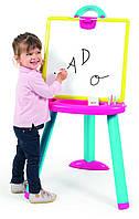 Мольберт со съемной доской двусторонний, доска для рисования SMOBY розово-голубой 410608
