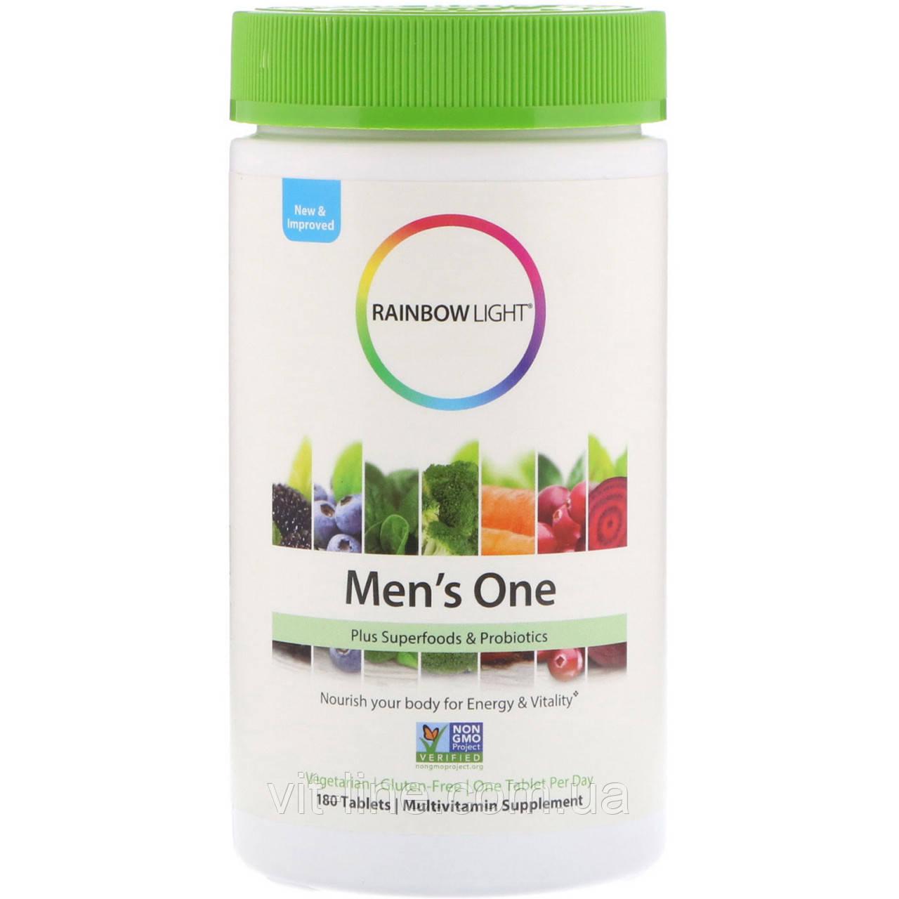 Rainbow Light, Сертифицированный поливитаминый комплекс для мужчин, 180 капсул