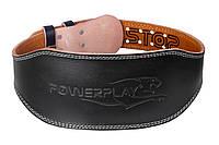 Пояс для важкої атлетики PowerPlay 5086 Чорно-Коричневий M, фото 1