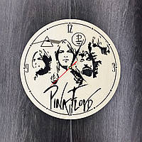 Бесшумные настенные часы из дерева 7Arts Pink Floyd CL-0062, фото 1