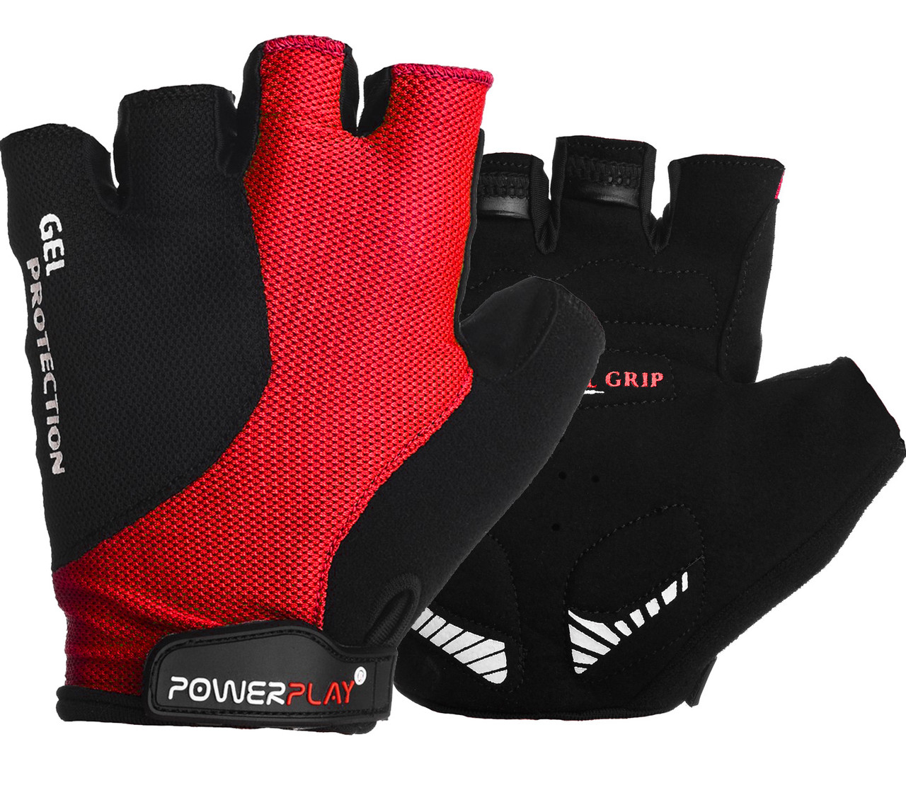 Велоперчатки PowerPlay 5028 C Черно-красные M