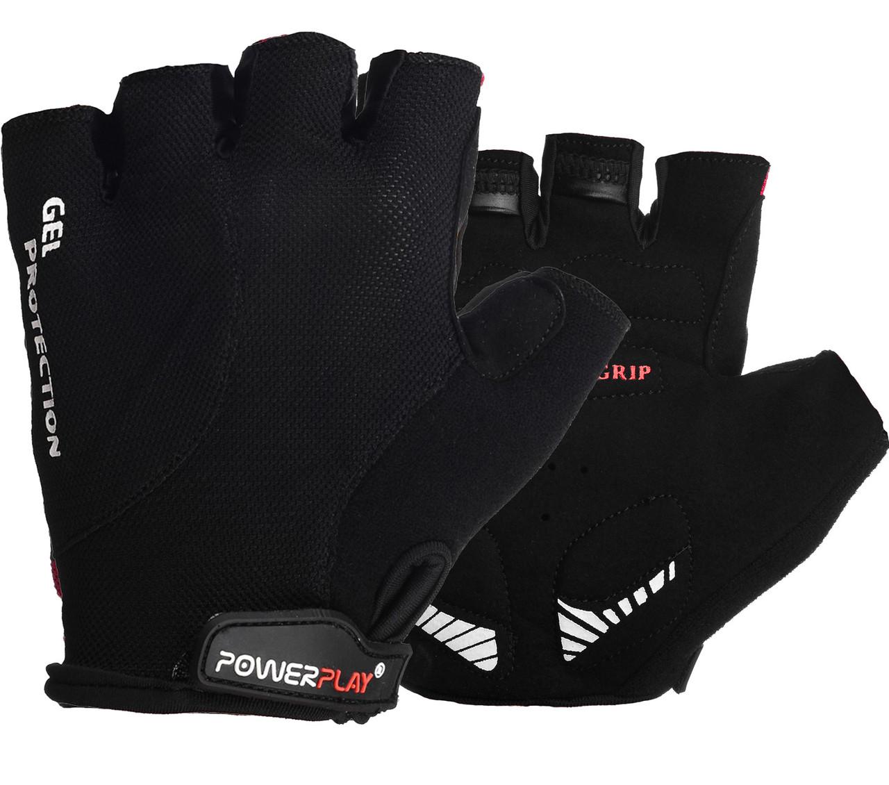 Велоперчатки PowerPlay 5028 Черные S