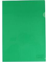 Папка уголок А4 Экономикс, 180 мкм фактура глянец зеленая