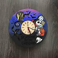 Часы настенные цветные из дерева 7Arts Кошмар перед Рождеством CL-0068, фото 1