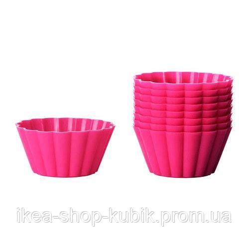 ИКЕА СОККЕРТАКА Формочка для выпечки, розовый