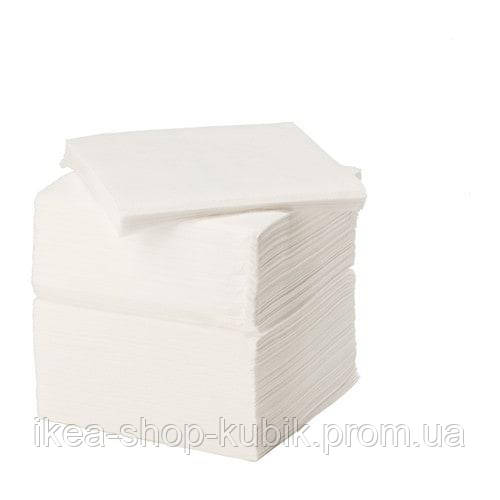 ИКЕА STORÄTARE Салфетки бумажные, белые, 30x30 см., 250 шт.