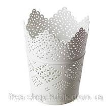 ИКЕА СКУРАР Подсвечник для свечи, белый, 11 см
