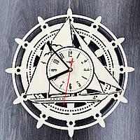 Деревянные настенные часы 7Arts Штурвал CL-0101, фото 1