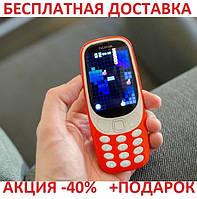 d956aa1c5cb7 Кнопочный мобильный телефон Nokia 3310 Original size 2 sim карты, 1200 Mah,  FM радио