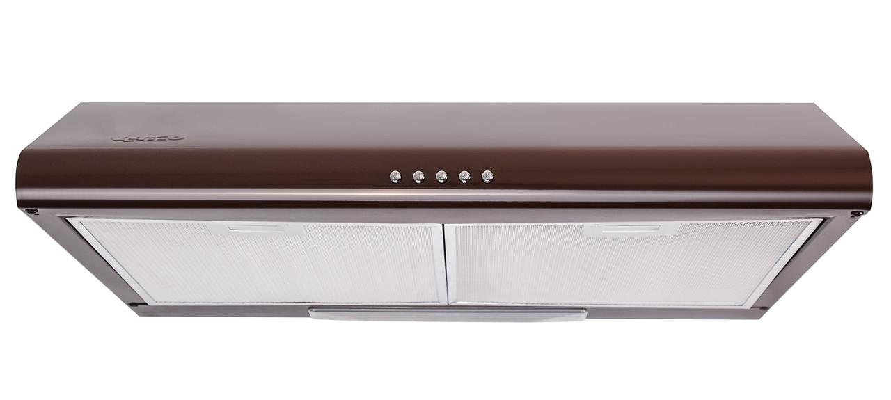 Кухонні плоска витяжка коричнева 50 см Ventolux ALDO 50 BR