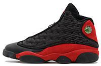 Мужские кроссовки Nike Air Jordan 13 Black Red (найк аир джордан 13, черные/красные)