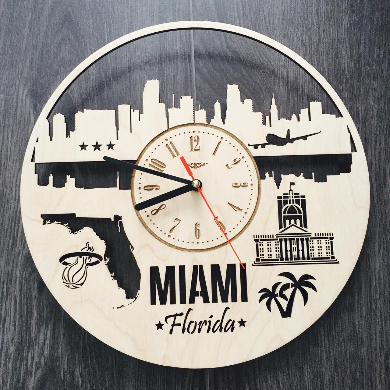 Интерьерные часы на стену 7Arts Майами, Флорида CL-0113