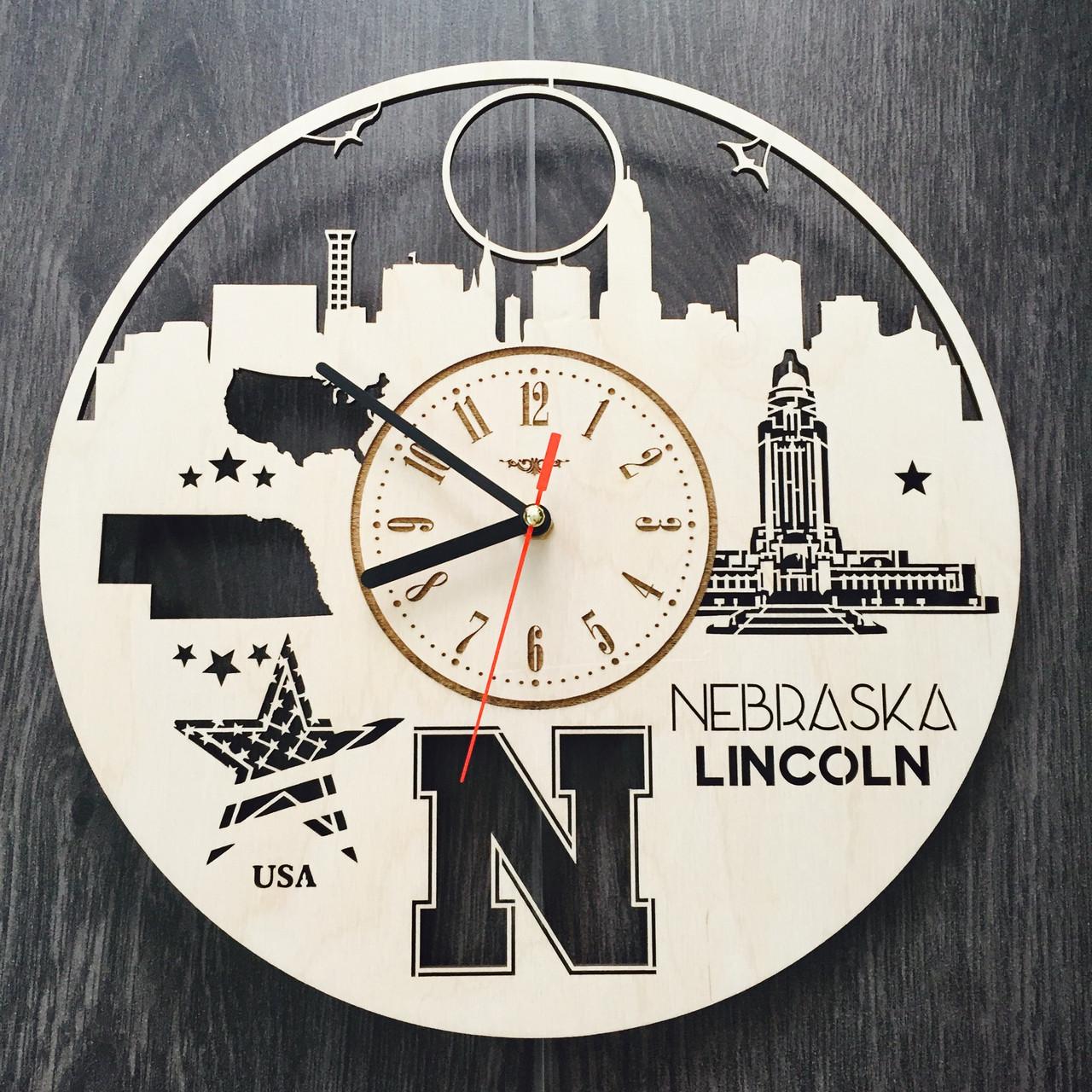 Дизайнерские часы на стену 7Arts Линкольн, Небраска CL-0115