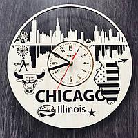 Дизайнерские часы на стену 7Arts Чикаго, Иллинойс CL-0117, фото 1