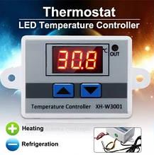 Терморегулятор цифр. XH-W3001 220В з виносним датч.-95см (-50 +110)
