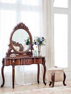Стол туалетный Эмили 120 без зеркала, МДФ орех