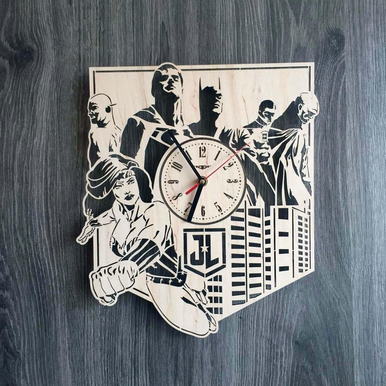 Настенные часы из дерева 7rts Лига справедливости CL-0194