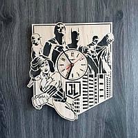 Настенные часы из дерева 7rts Лига справедливости CL-0194, фото 1