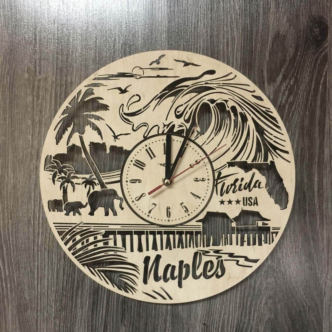 Интерьерные часы на стену 7Arts Нейплс, Флорида CL-0200