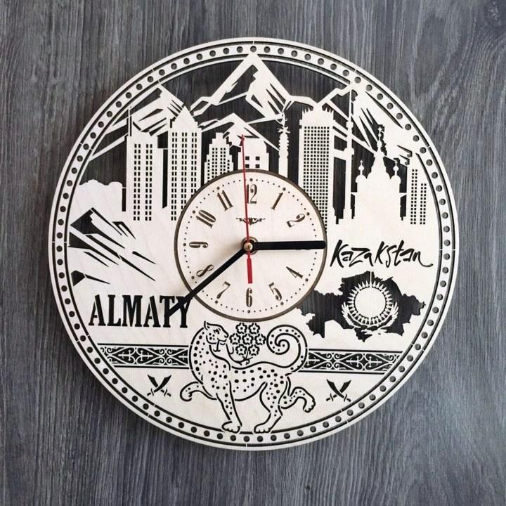 Интерьерные часы на стену Алма-Ата, Казахстан CL-0205