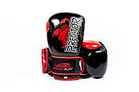 Боксерські рукавиці PowerPlay 3007 Чорні карбон 14 унцій, фото 1