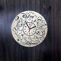 Детские настенные часы из дерева Дональд Дак и Дейзи Дак CL-0213, фото 1
