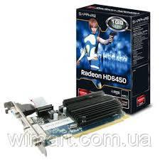 Видеокарта Sapphire PCI-Ex Radeon HD6450 1024 MB GDDR3 (64bit) (625/1334) (DVI, HDMI) (11190-02-20G)