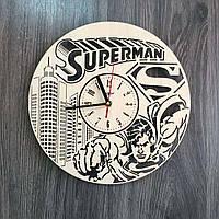 Стильные настенные деревянные часы Супермен CL-0221, фото 1