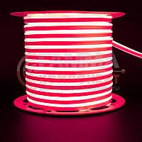 Светодиодный неон 220В красный AVT smd 2835-120 лед/м 7Вт/м, герметичный