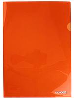 Папка уголок А4 Экономикс, 180 мкм фактура глянец оранжевая