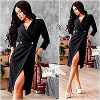 Черное платье-пиджак Gloria (Код 415) О В