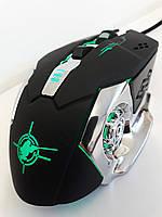 Мышь игровая компьютерная проводная X6 Мышка c подсветкой Зеленый