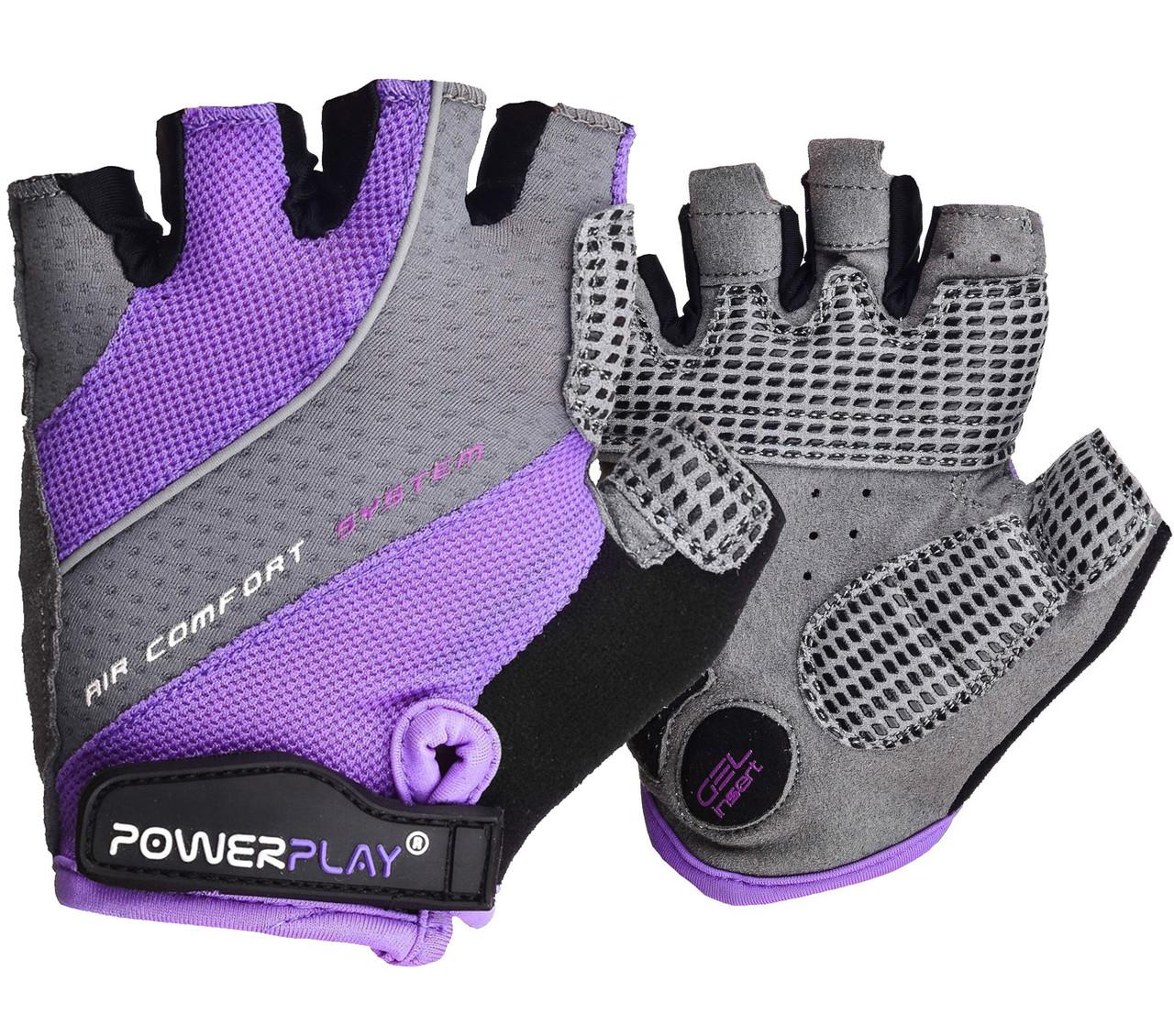 Велорукавички PowerPlay 5023 A Фіолетові S