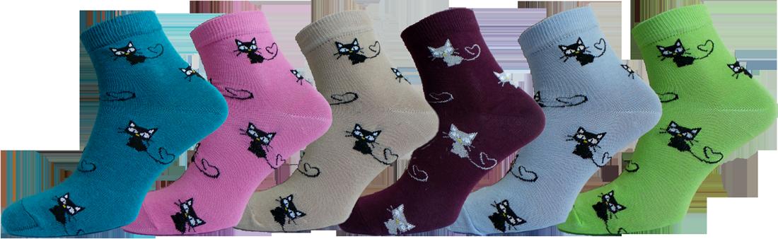 """Жіночі шкарпетки кот хлопок""""lomani"""""""