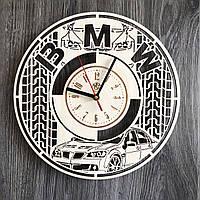 Стильные часы из дерева настенные BMW CL-0246, фото 1
