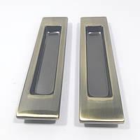 Ручка для раздвижных дверей прямая USK AB (старая бронза)