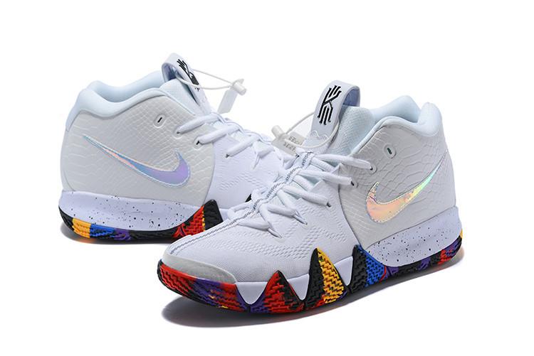 8d0a6e48 Белые баскетбольные кроссовки Nike Kyrie 4