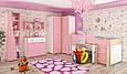 Детская стенка Лео  салатовая/синяя/розовая (Мебель-Сервис), фото 3