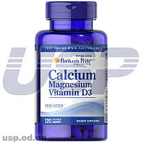 Puritan's Pride Calcium Magnesium with Vitamin D кальций магний витамин д для костей