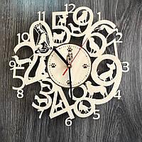 Интерьерные часы на стену из древа с собаками CL-0275, фото 1
