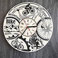 Круглые часы из дерева на стену Велосипед CL-0276, фото 1