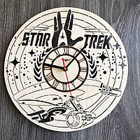 Дизайнерские настенные часы из дерева Звездный путь CL-0297, фото 1